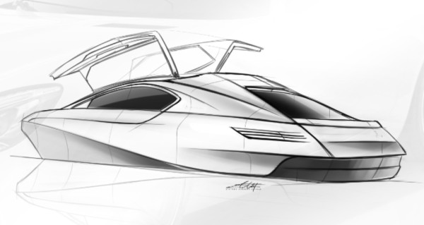 yacht, car, automotive, concept, squaredmk, design, sketches